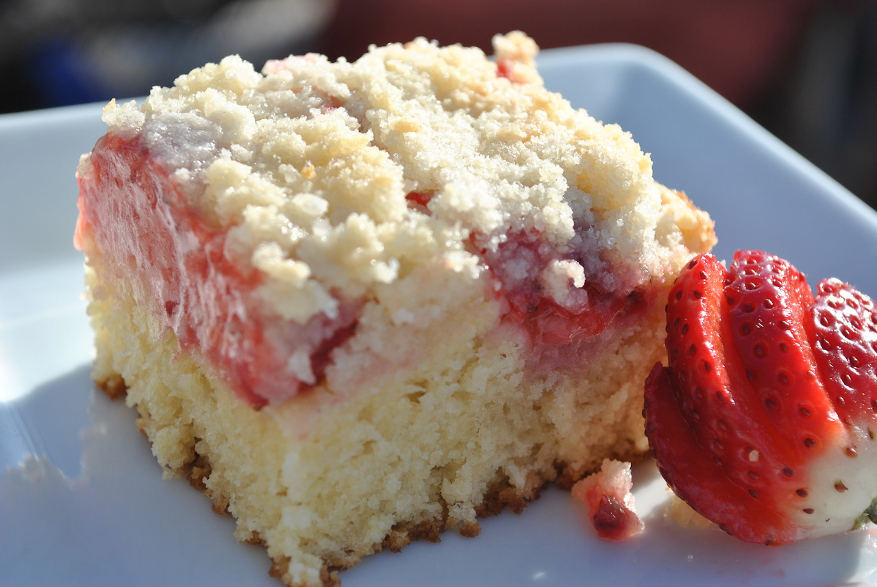 Strawberry Coffee Cake Recipe — Dishmaps