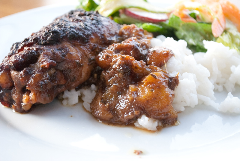 ... jerk chicken thighs jamaican jerk chicken thighs recipe yummly