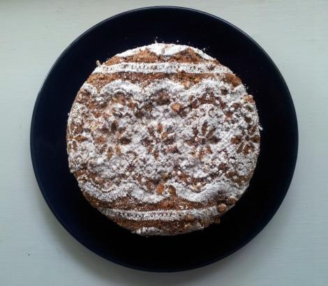 Coffee Cake with Fresh Plums and Cinnamon Streusel