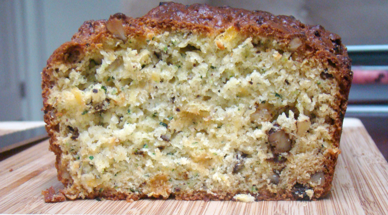 Zucchini Hummingbird Bread with Pineapple, Raisins, and Nuts